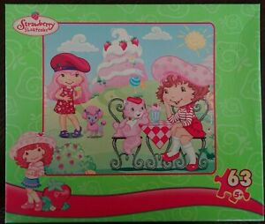 "STRAWBERRY SHORTCAKE 2007 Puzzle 63 Piece Ice Cream Parlor 10 3/8"" X 9 1/8"""