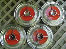 VINTAGE 1958 58 FORD EDSEL HUBCAPS  WHEEL COVERS CENTER CAPS ANTIQUE  FOMOCO