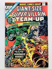 Giant SIze Super Villain Team Up #2 Marvel Comics 1975 Nice!