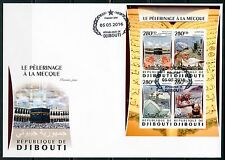 DJIBOUTI 2016 PIGLRIMAGE TO MECCA SHEET FIRST DAY COVER
