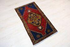 """Malatya Carpet Doormat, 21.7""""x39.8"""", Turkish Doormat, Handmade Vintage Doormat"""