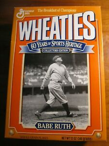 NEW Full Wheaties Box Babe Ruth Collector's Edition *rp*