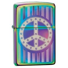 "Zippo ""Peace Sign-Bolted"" Spectrum Finish Full Size Lighter, Full Size, 29435"