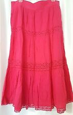 Travel-Smith-Pink-Boho-Summer-Skirt- Size L