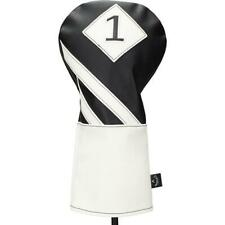 New w/ Tags Black/White Callaway Vintage Style Driver Headcover Faux Leather