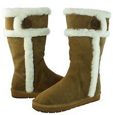 $ 190 Michael Kors Women's Winter Tall Boots DK Caramel Suede Size 10 New
