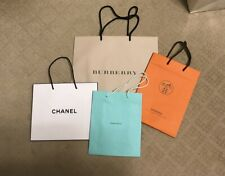 Hermes, Tiffany & Co., Chanel, Burberry shopping Bags Different Designs & Sizes