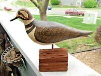 Hand Carved Bird William (Will) E Kirkpatrick Shorebird Wood Decoy Killdeer WEK