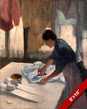 WOMAN IRONING SHIRT CLOTHES HOUSEHOLD CHORES PAINTING E. DEGAS ART CANVAS PRINT