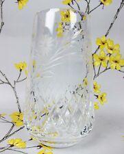 """Superb vintage cut crystal glass Edinburgh Crystal FLOWER VASE. 17 cm / 6.75"""""""