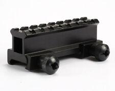 8slots 20mm Weaver Picatinny Rail Riser Base Adapter Metal Mount For Hunting