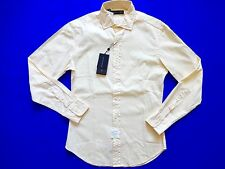 New Ralph Lauren Black Label 100% Cotton Cream Ivory Button Up Shirt SLIM sz XXL