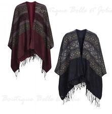 Markenlose Damen-Pullover & -Strickware im Ponchos-Stil mit geometrischem Muster