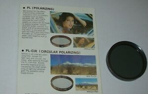VINTAGE 49mm POLARIZER SCREW IN FILTER MADE IN KOREA -FREE SHIPPING