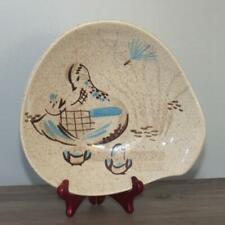 "Red Wing Pottery Bob White Quail 9"" Vegetable Serving Bowl w/ Lug Handle"