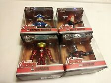 "ACTION FIGURES 4 Marvel Avengers 2.5"" Metalfigs antman ironman black widow cpt A"