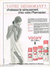 PUBLICITE ADVERTISING 055  1966  VICHY  déodorant