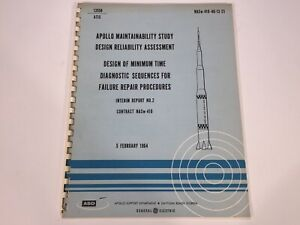Vintage 1964 NASA Saturn Rocket Apollo GE Program Reliability Manual NASw-410-40
