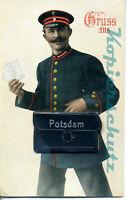 AK Potsdam, Briefträger, Mini-Leporello, 10 Ansichten, 25/02
