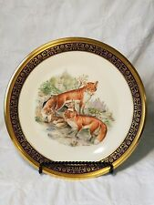 Lenox Boehm Woodland Wildlife Red Foxes Plates 1974 - Limited Edition