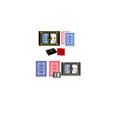 Da Vinci RUOTE Italian 100 Plastic Playing Cards 2-deck Poker Size Set Regul