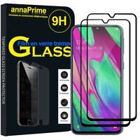 """2 Vitre Film Verre Trempe Protecteur d'écran Samsung Galaxy A40 5.9"""" SM-A405F"""