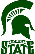 """Michigan State Spartans Corn Hole (Bag Toss) 18"""" x 12.5""""  Vinyl Decals set of 2"""