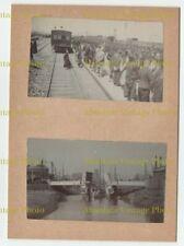 CHINESE PHOTOS RAILWAY ETC ? SHANGHAI TIENTSIN PEKING ? CHINA ALBUM PAGE C.1900