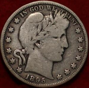 1895 Philadelphia Mint Silver Barber Half Dollar
