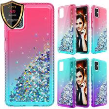 For Samsung Galaxy A71 A51 Quicksand Case Armor Phone Cover/ Screen Protector