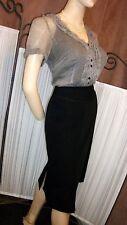 Silk Short Sleeve Regular Striped Tops & Shirts for Women