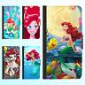 Galaxy S9 S8 Plus S7 Note 8 Leather Flip Wallet Case Disney Princess Ariel Cover