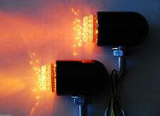 Motorcycle Running light turn signal Amber LED front black out harley softail fl