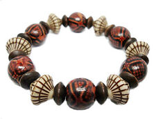 M1126 vogue women girl acryl wooden bead charm chain stretch bracelet