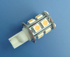 1x T10 194 921 bulb AC/DC12~24V 13-5050 SMD LED Super Bright, Warm White #T13ZB