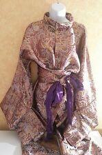 Geisha Purple Metallic Shogun Kimono Style Robe Dress Gown Bridal Wedding & Obi