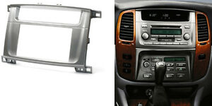 Double Din Radio Fascia for Land Cruiser Lexus Stereo Panel DVD Dash Trim Kit