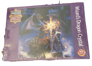 """Wizard's Dragon Crystal 500 PC Master Piece 19""""x 19"""" American Jigsaw Puzzle New"""