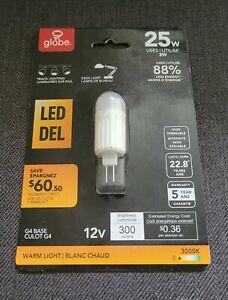 3 Watt (25 W Equiv.), T4 LED, Non-Dimmable, Warm White (3000K) G4/Bi-pin Base