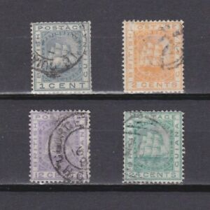 BRITISH GUIANA 1876, SG# 126-132, Wmk Crown CC, part set, Used