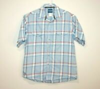 Wrangler Western Shirt Short Sleeve Button Up Men's Size Large
