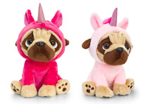 Keel Toys Pugsley 14cm Unicorn Pug Dog 2 Designs Cuddly Soft Toy Teddy New Gift