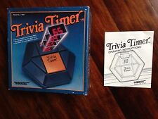 Trivia Timer from Tiger Electronics 1984. It is COMPLETE with Box, instructions