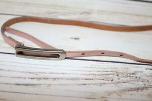 REDD Brand Pink Leather Skinny Belt Size L NEW #BEL3