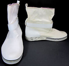 Timberland Shoes Floral Side Button Ankle Length White/Black Boots Size 8.5
