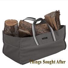 JUMBO LOG TOTE for FIREWOOD Fire Wood Canvas Carrier Bag Holder Rack Bag RAVENNA