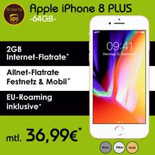 Apple iPhone 8 Plus 64GB Handy mit Vertrag 2GB Allnet Flat inkl. NUR 36,99€ mtl.
