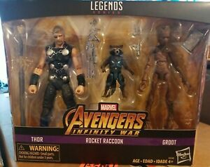 Marvel Legends Avengers Infinity War TRU Exclusive 3-Pack Thor Rocket Groot New