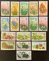 FALKLAND ISLANDS. Flowers. SG276/88. 1972. MNH. Protected in Hawids. (LC37)