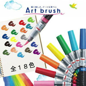 Pentel Art Brush Pen Calligraphy Fude Pen XGFL series Choose from 18 Color